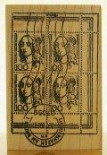 外国の切手と消印