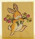 ウサギちゃんと花束