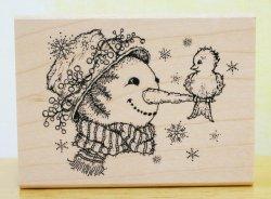 画像1: 雪のお友達