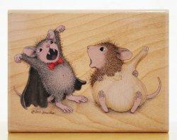 画像1: ネズミのドラキュラごっこ/輸入スタンプ