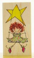 星のブランコの女の子