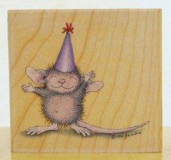 画像1: 三角帽子のパーティーねずみちゃん