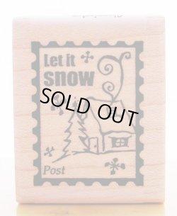 画像1: 雪よ降れ切手柄